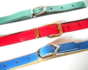 Set of 3 vintage Belts Size 10