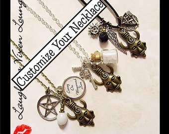 Customize Your Own Supernatural Jewelry - Supernatural Necklace - Supernatural Protection Amulet Necklace CYO Edition - 150+ Charms