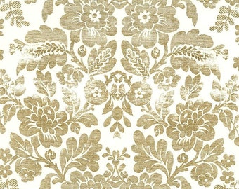Distressed Metallic Gold Brocade Print Italian Paper ~ Rossi Italy  R209
