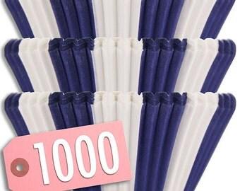 BULK Blue Circus Stripe Baking Cups 1000 - cupcake liners, cupcake papers