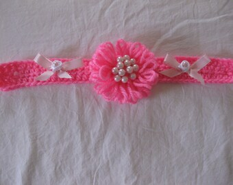 XS Decorative Dog Collar in Hot Pink New