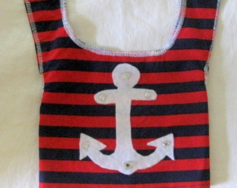 XS Patriotic,Nautical Pet Shirt/vest with leash attachment New