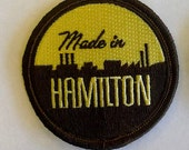 Made in Hamilton embroidered patch