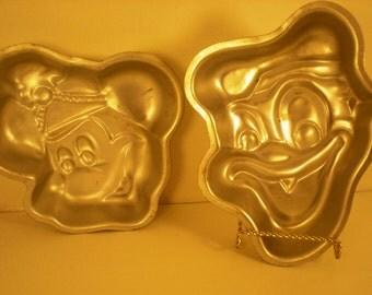 Wilton Disney Cake Baking Pans Donald and Mickey