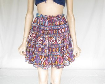 Vintage 80s India Gauze Sheer  Skirt