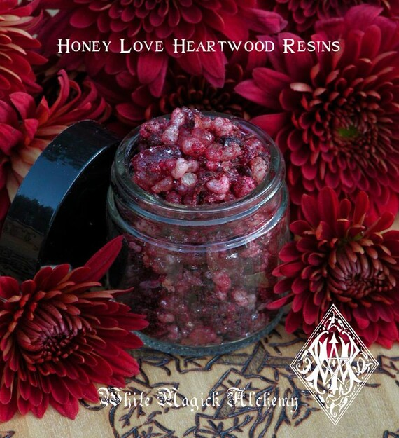 Honey Love . Natural Heartwood Resins Drenched in Honey and Essential Oils
