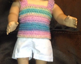 """18"""" Doll Top, American Girl Top, Favorite Friend Top, Our Generation Top, made to order"""