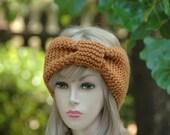 Honey Yellow Knit Headband - Seamless Turban Ear Warmer, Women's Winter Accessory, Vegan Knitted Headband, Fall Fashion
