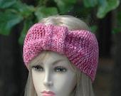 Rose Mist Knit Headband Ear Warmer, Women's Knitted Headband, Knitted Accessories, Women's Winter Headband Ear Warmer, Turban Ear Warmer,