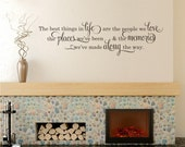 Best Things In Life Wall Decal - Vinyl Wall Words