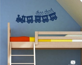 Choo Choo Train Wall Decal - Vinyl Wall Decals Stickers Art Graphics