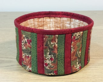Quilted Fabric Bowl (XQB21)