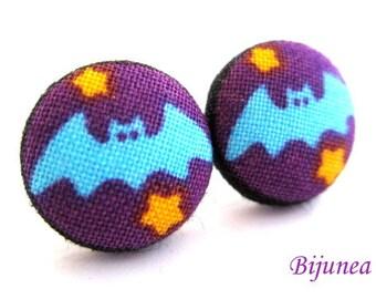 Bat earrings - Halloween bat stud earrings - Halloween bat posts - Halloween black bat post earrings sf1072