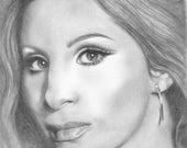 Barbra Streisand Original Drawing