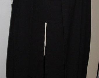 Costume Sith black wool robe, tabards and sash