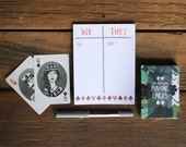 Playing Cards and Score Notepad Gift Set