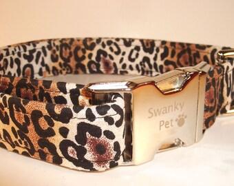 Stylish Cheetah Print Collar by Swanky Pet