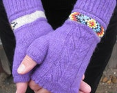 PDF - Indian Feather Fingerless Mitts & Cuffs Pattern