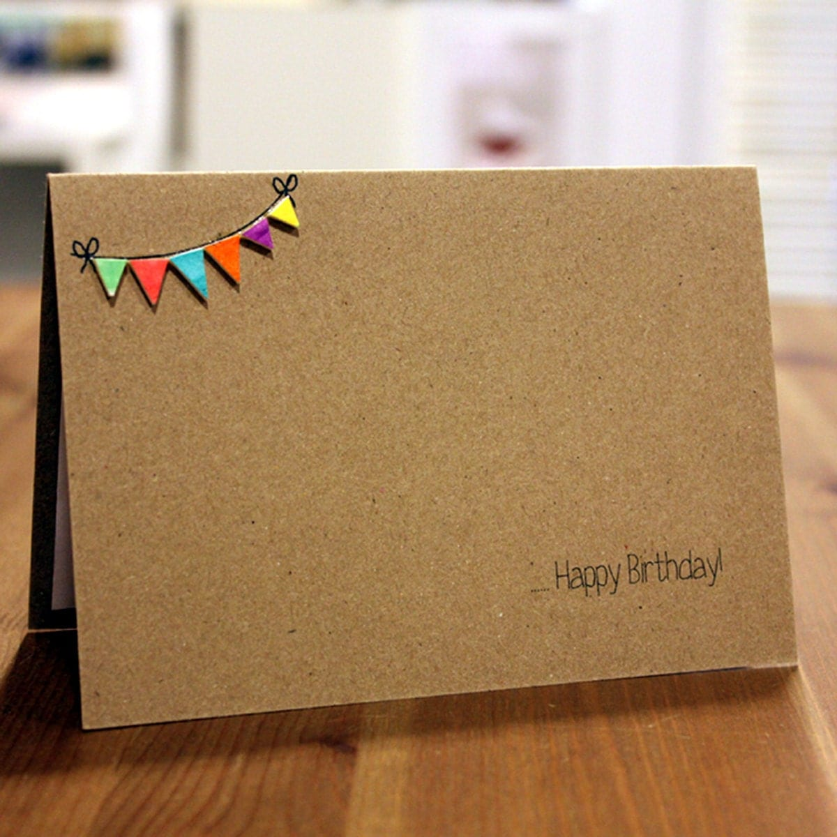 Handmade Birthday Card // Happy Birthday By LittleSilverleaf