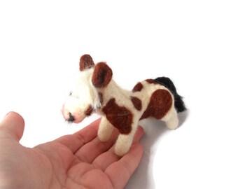 Miniature Horse Sculpture, Custom Needle felted Horse, Custom pony Sculpture