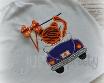 Tiger in Bug Embroidery Applique Design
