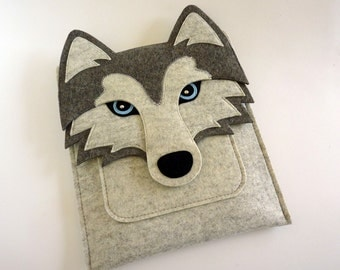 Siberian husky MacBook Air 13 inch case, laptop felt bag