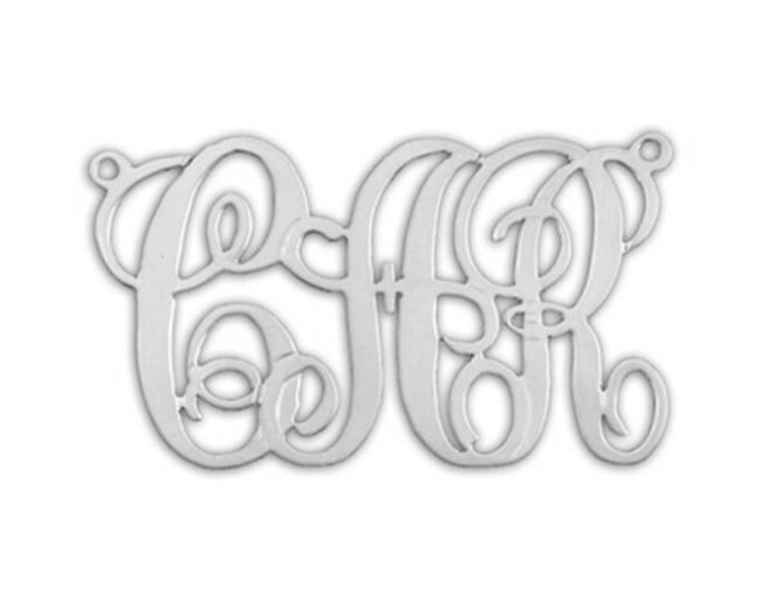 Lace Monogram Necklace - sterling silver