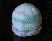 Crochet Baby Hat/Cap fits 13 to 14 inch head/3 months