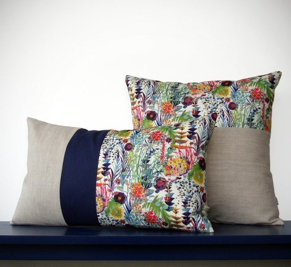Limited Edition Floral Liberty Print Pillow Set Of 2 By