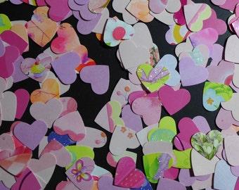 Tea Party Heart Confetti Die Cuts