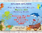 Under the Sea Party Invitation-PRINTABLE