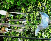 Wind Chime - Beautifully Detailed, Silver Plate Gravy Boat Wind Chime