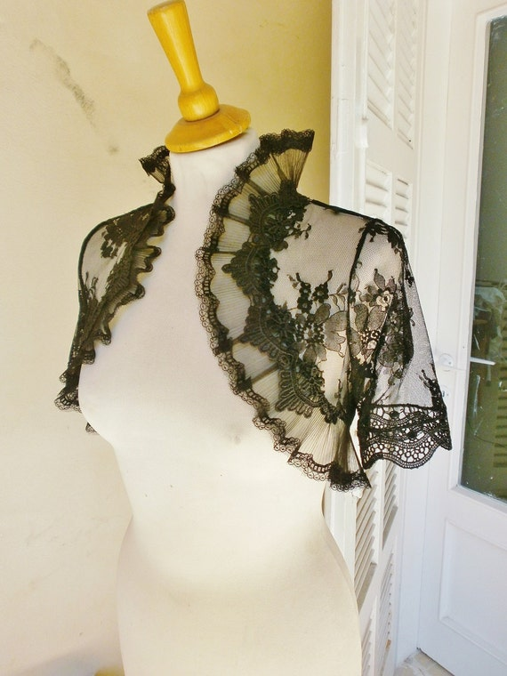 VENETIAN black lace bolero jacket wedding shrug gothic bolero goth lolita jacket victorian bolero black shrug
