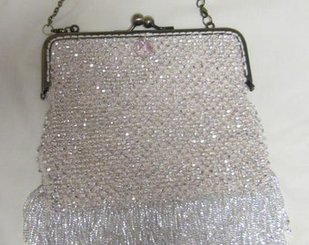 Bridal Purse Handmade Beaded Bag