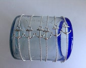 6 Pack Anchor Silver Bracelet Bridal Pack