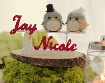 penguin cake topper -----Special Edition (K401),penguin wedding cake topper