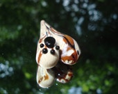 Handmade Glass Paw Print Multi Colored heart