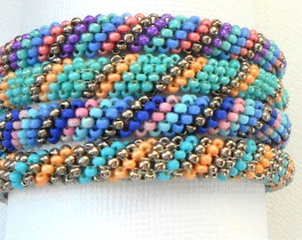 beaded bangles bead bracelet seed bead beadwork seed bead stackable