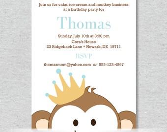Royal Monkey King Party Invitation