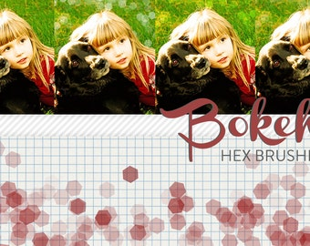 photoshop brushes - hex bokeh - for photography or scrapbooking - commercial use allowed