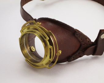 Steampunk Real Brass Monocle Steam Punk LARP Cosplay