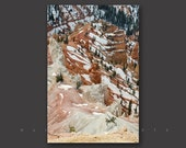 Vertical Wall Art, Mountain Landscape, Winter Art, Utah Photography, Black and White, Nature Art, Cedar Breaks, Abstract Art, Fine Art Print