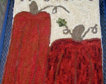 Fall Welcome Hand Hooked Wool Hanging Table Mat Candle Mat Hot Pad