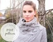 PDF pattern RIONA cardigan coat trendy chunky