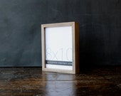 8x10 picture frame with natural sail rope colored finish part of Drift Collection . 8x10 handmade picture frame .