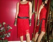 G.Gatsby  Vintage Dress Flapper does 20-30s Theme Size S