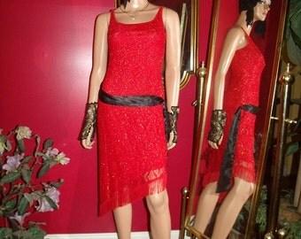 G.Gatsby  Vintage Dress Flapper does 20-30s Theme Size S