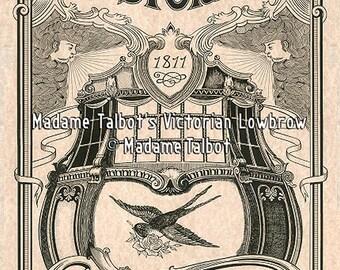 Astoria Oregon 1811 Sailing Ocean Ship Tattoo Poster