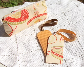 Sombrero Gift Set - Luggae Tag - Cosmetic Pouch