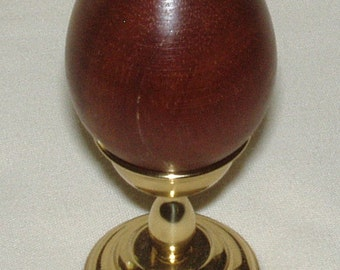 RESERVED FOR ROSASIANWILLIAMS - Wooden Eggs w Brass Stand